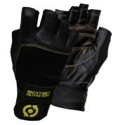 leather yellow style gloves